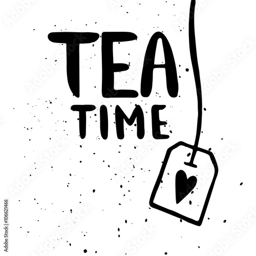 фотография  Vector tea time illustration