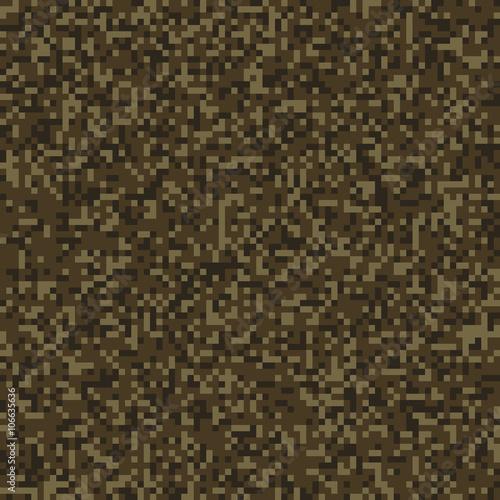 Dark Brown Seamless Digital Camo Texture Vector Buy This Stock