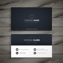Clean Dark Business Card