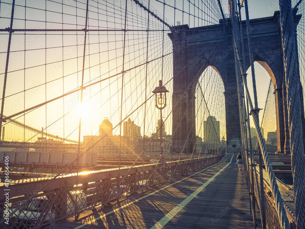 Fototapety, obrazy: Brooklyn Bridge New York