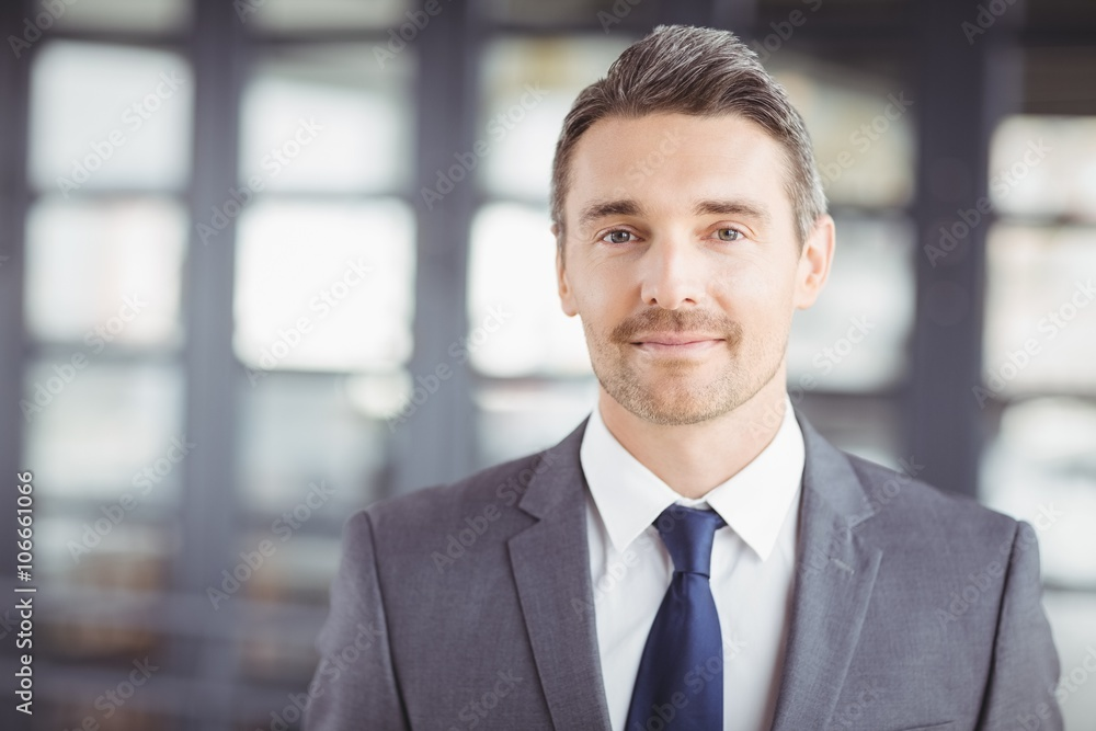 Fototapeta Portrait of confident handsome businessman