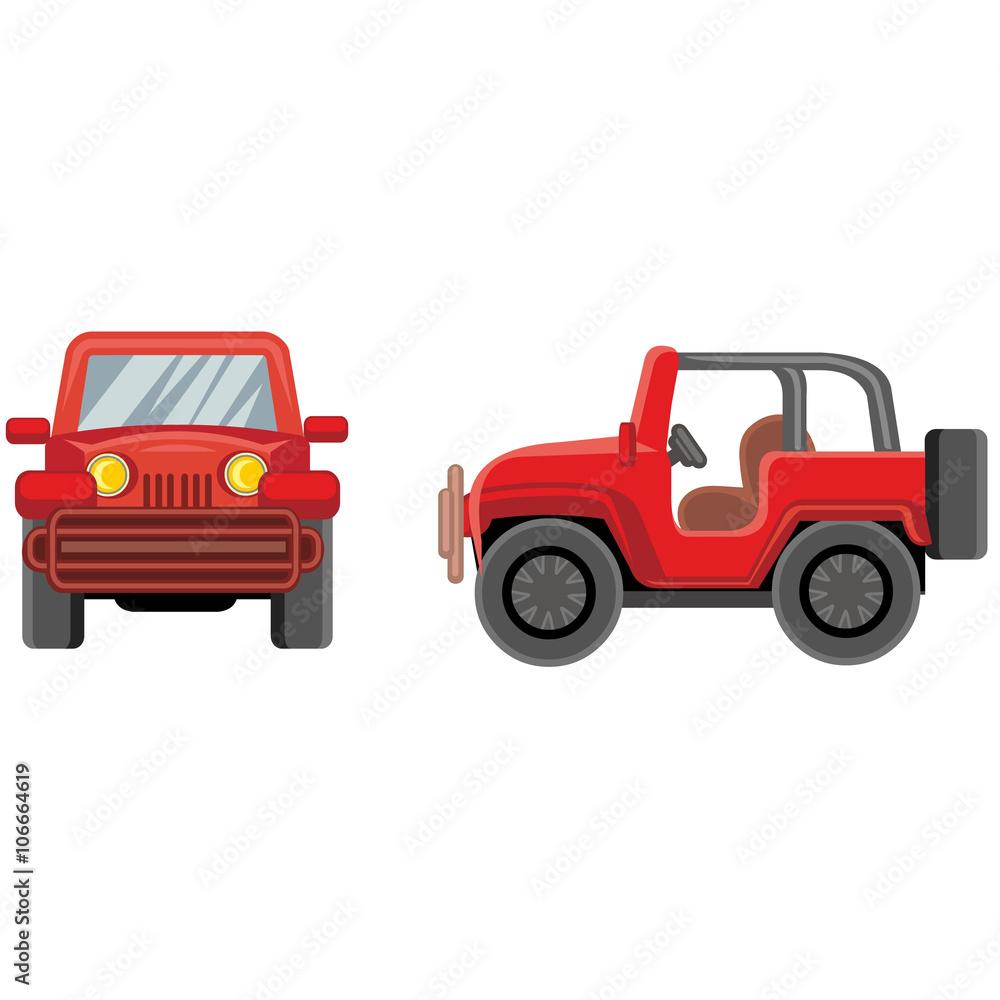cartoon jeep Foto, Poster, Wandbilder bei EuroPosters