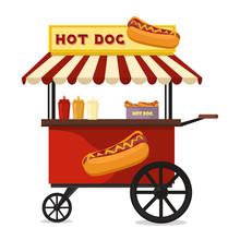 Hot Dog Fast Food Shop Street ...