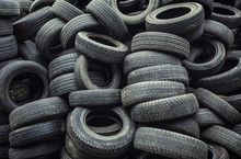 Used Car Tires Pile In The Tir...