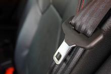 Close Up Seat Belt In Modern Car