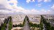 Aerial view of Paris from Triumph Arc