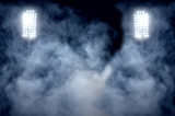 Fototapeta sport - stadium lights and smoke