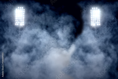 stadium lights and smoke Poster
