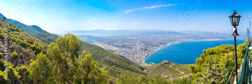 Fotografia, Obraz Panoramic view of Loutraki, Greece