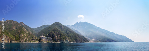 Photo Mountaines Athos in Greece