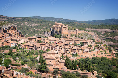 View of Alquezar in Sierra de Guara, Aragon, Spain