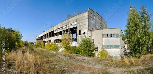Papiers peints Les vieux bâtiments abandonnés factory ruins