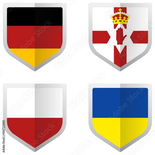Set of Flag for European Soccer Team C Poster