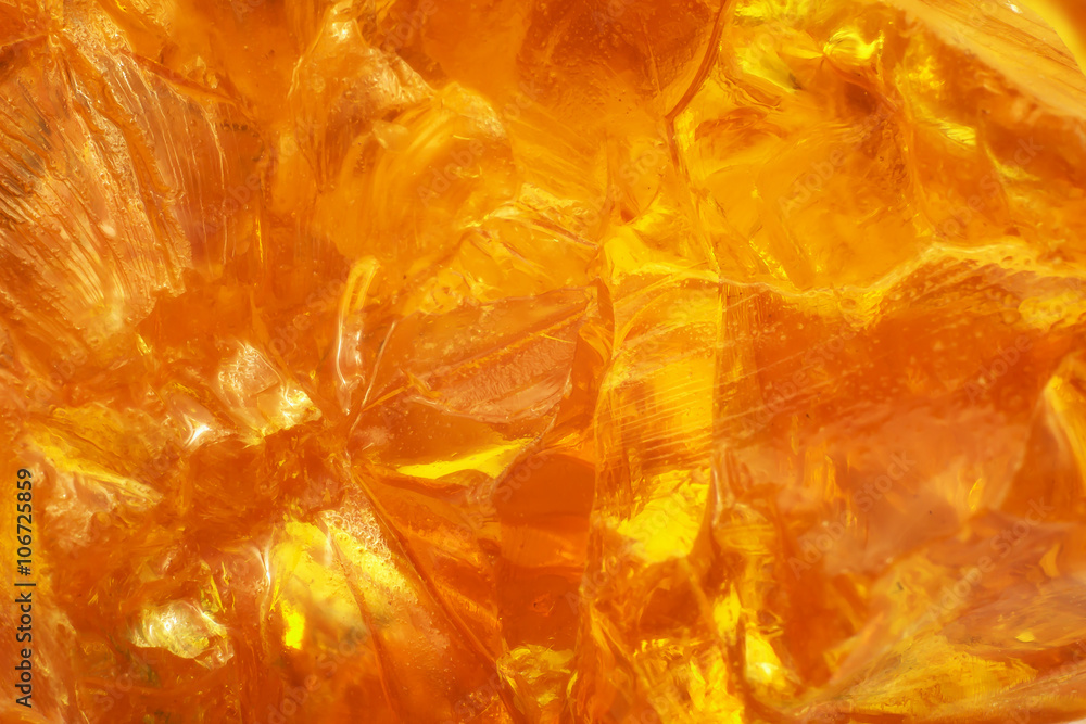 Fotografia Abstract of sunlight passed throughout piece of rosin