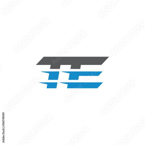 Photo  Simple Modern Dynamic Letter Initial Logo te