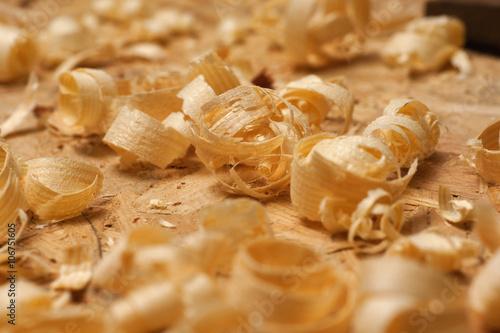 Fotografie, Obraz  Carpenter working. Sawdust shot on grainy pine