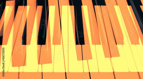 Obraz na płótnie klawisze