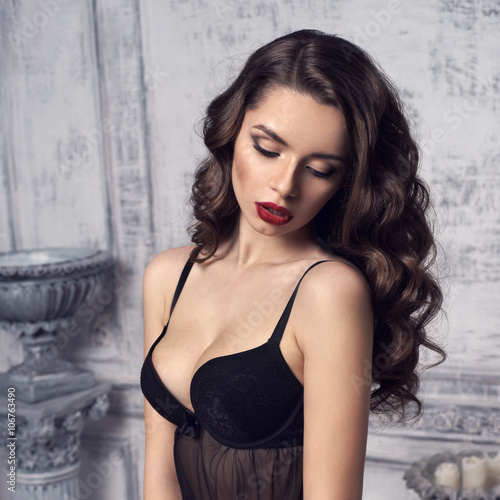88c1465c4766 pretty young woman dressing sexy lingerie - Buy this stock photo and ...
