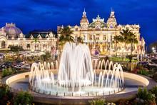 The Monte Carlo Casino, Gambling And Entertainment Complex Located In Monte Carlo, Monaco, Cote De Azul, France, Europe.