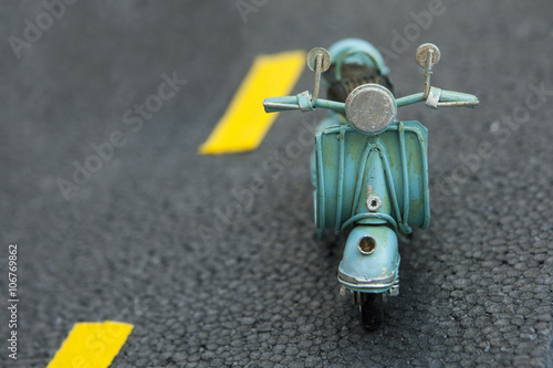 Fotoposter Scooter miniature scooter motorcycle