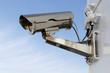 Security camera with blue sky