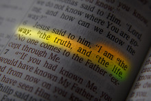 Bible Text - I AM THE WAY, THE TRUTH, AND THE LIFE