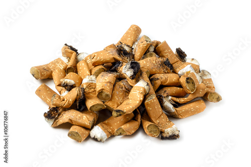 Vászonkép  Pile of cigarette butts