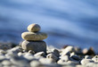 Meditation stones - relaxing on the beach