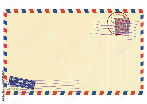 Envelope post air Wallpaper Mural