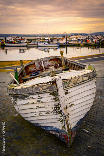 Old fishing boat near Poole Quay Canvas Print