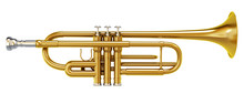 Brass Trombone Isolated On Whi...