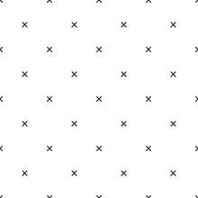 X Cross Geometric Pattern. Simple Subtle Seamless Background.