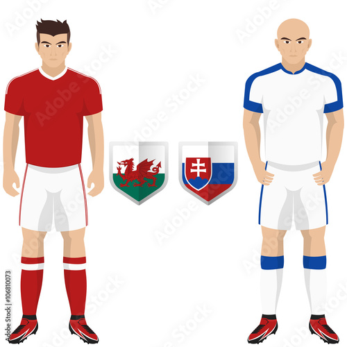brand new 1d1d3 cd718 Soccer Kit of Wales and Slovakia National Team for european ...