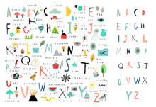 Cute Alphabet. Letters And Wor...