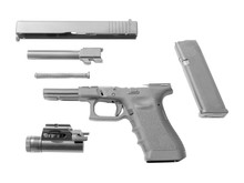 Disassembled Handgun Isolated ...