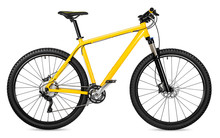 New Yellow Mountain Bike Bicyc...