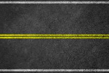 Asphalt Road Background With L...