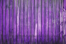Painted Old Wooden Wall. Purple Background