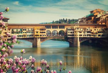 Fototapeta Mosty Ponte Vecchio, Florence, Italy