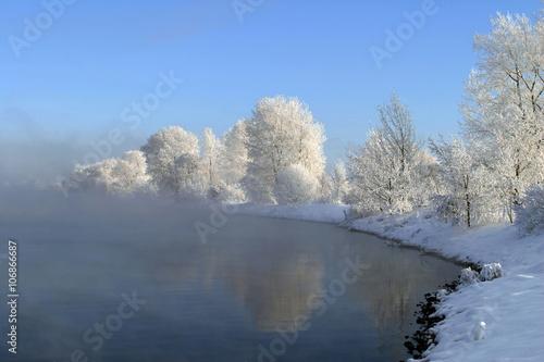 Foto op Aluminium Blauw winter tale