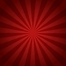 Red Color Burst Background Or Sun Rays