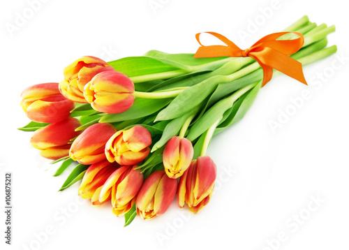 Deurstickers Tulp Tulpen - Blumenstrauß