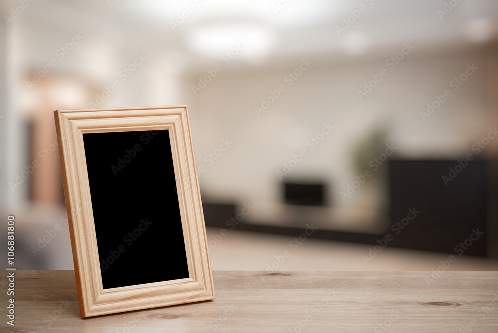 Fototapety, obrazy: photo frame on the wooden table