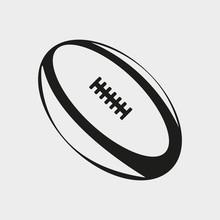 American Football Ball. Vector Illustration.