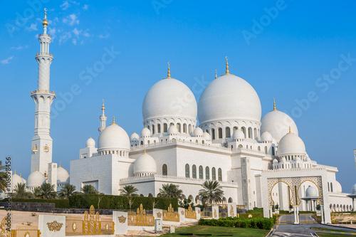 Poster Abou Dabi Sheikh Zayed White Mosque