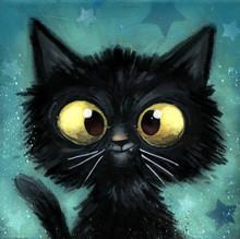 Gato Negro Ilustracion