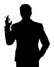 Man Smoking Silhouette