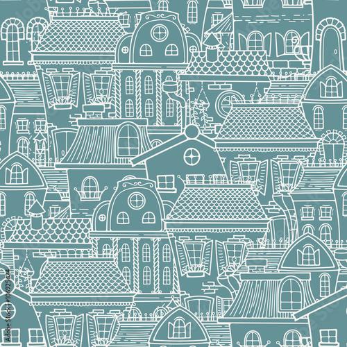 sliczny-bezszwowy-wzor-doodle-domy