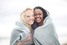 Gay Couple Wrapped In Blanket ...