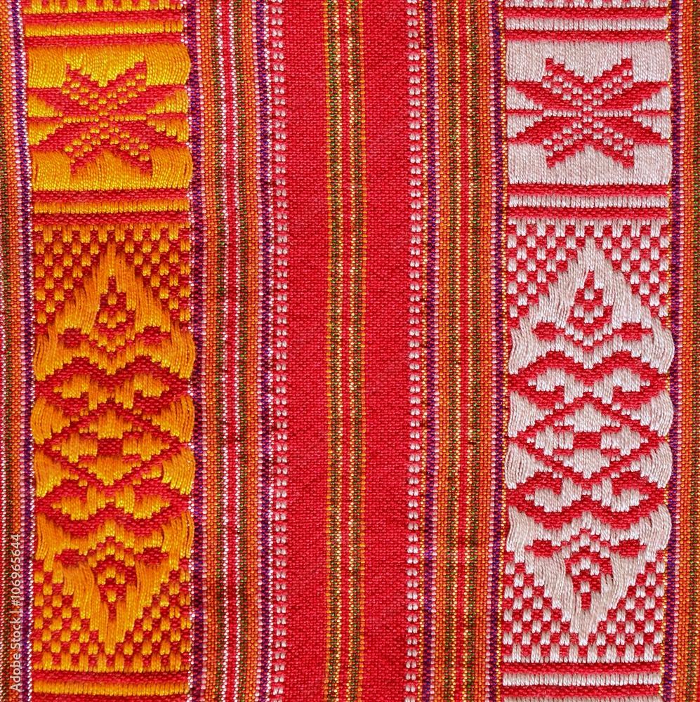 Striped fabric Thailand/Thailand handmade fabric in rural Thailand